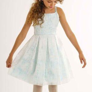 Biscotti Aqua Dress Pearl Pleated Special Occasion